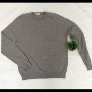 J Crew Cotton Cashmere Pique Crewneck Sweater